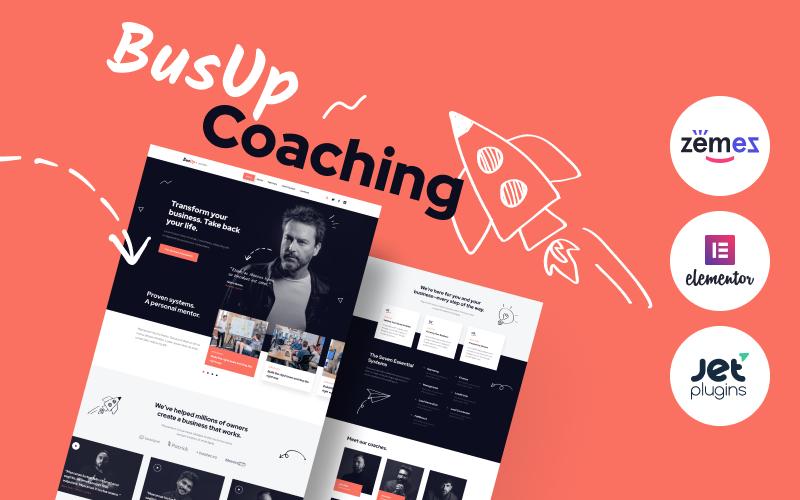 Reszponzív BusUp - Engaging And Inspiring Public Speaker Website WordPress sablon 90400