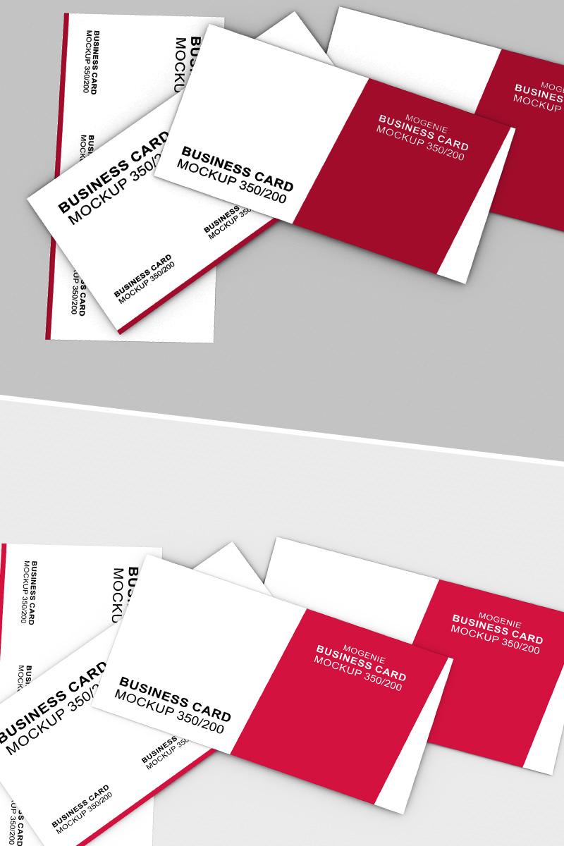 """Scattered stack of business cards"" maquette de produit  #90448"