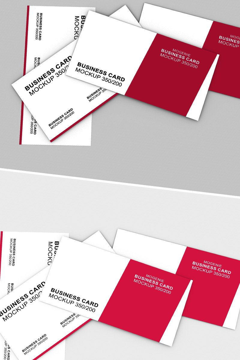 Scattered stack of business cards Product Mockup 90448