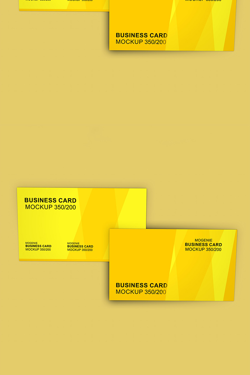 Set of two Business cards on a flat surface Product Mockup 90439
