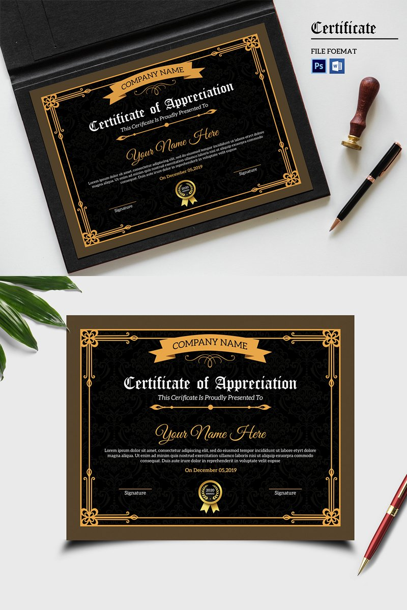 Sistec Appreciation Certificate Template 90454
