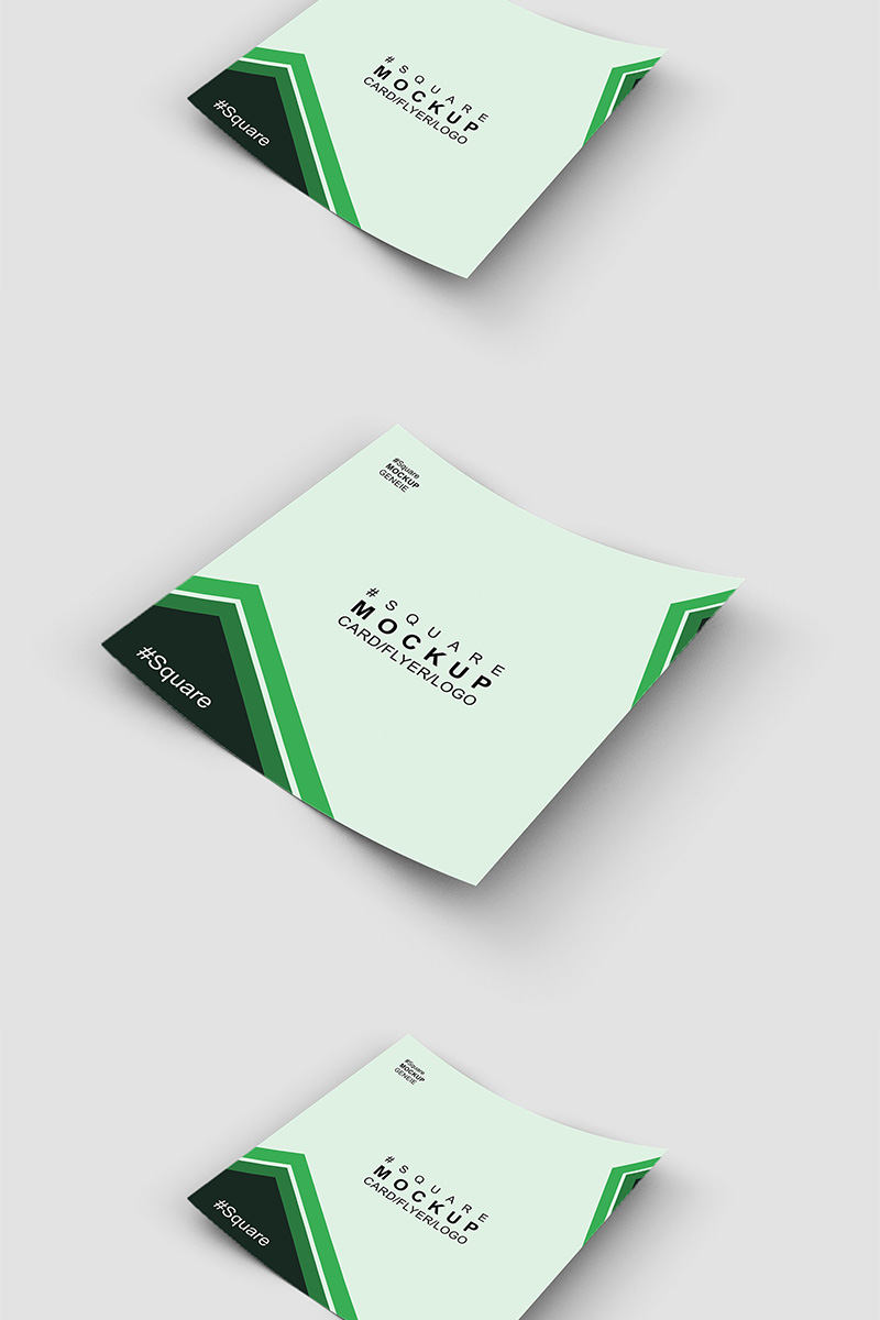 Square card on a flat surface Product Mockup