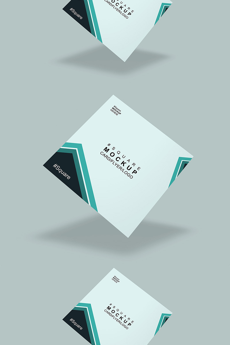 Square card Product Mockup 90447