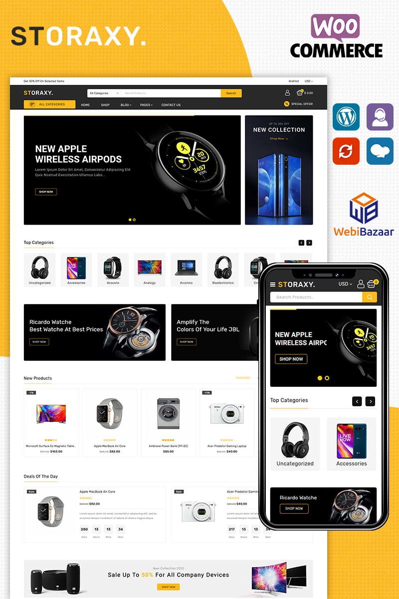 Storaxy WooCommerce Theme - screenshot