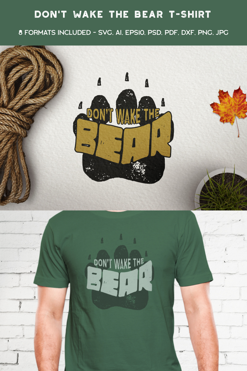 "T-shirt namens ""Don't Wake The Bear"" #90473"