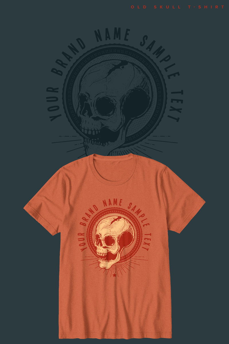 "T-shirt ""Old Skull"" #90474 - screenshot"