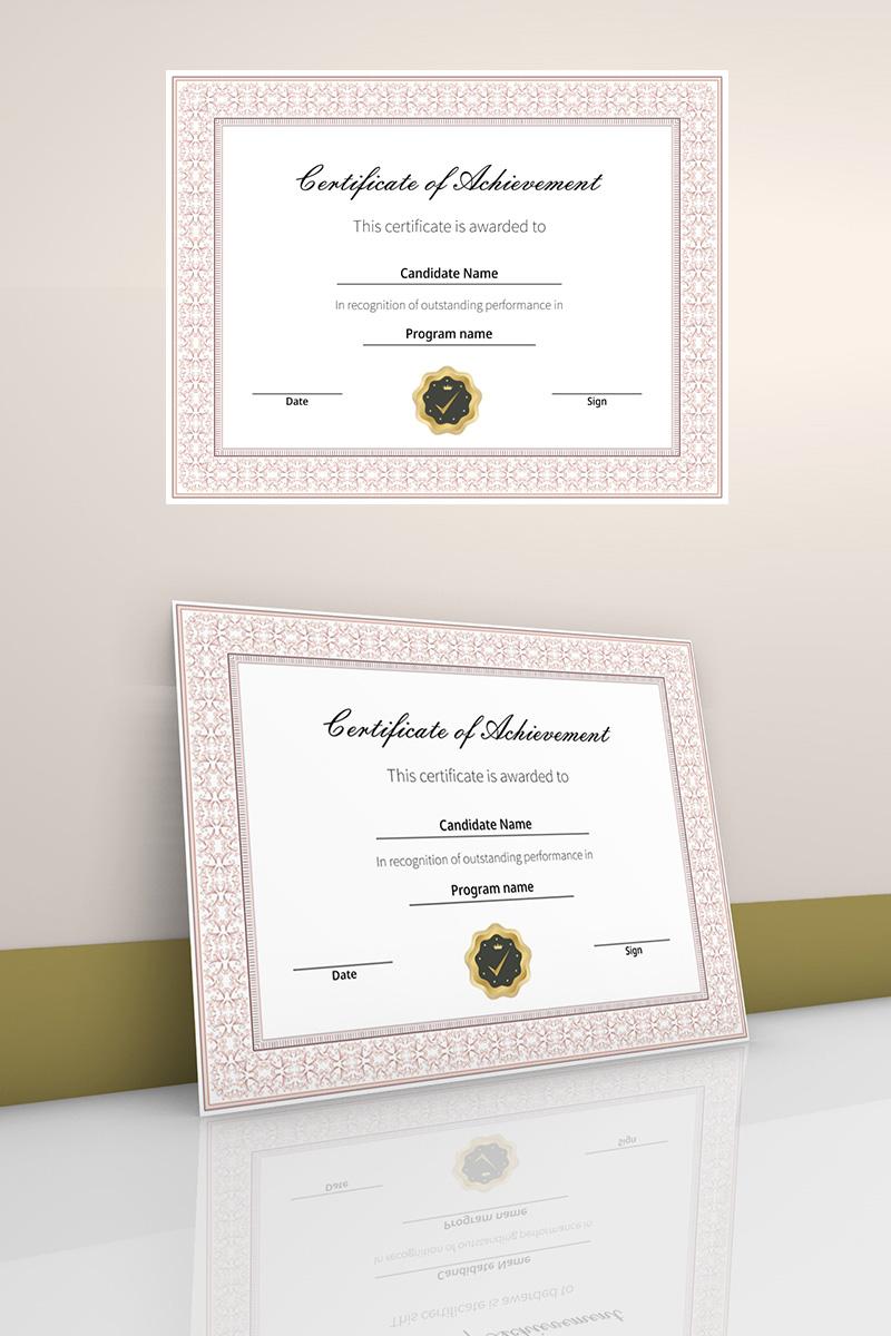 """Tema di certificato #90450 """"Achievement certificate with border"""""""