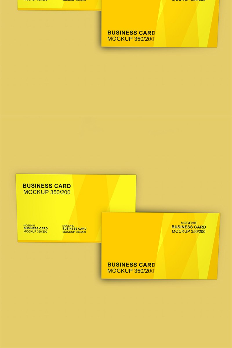 "Template Mockup del prodotto #90439 ""Set of two Business cards on a flat surface"""