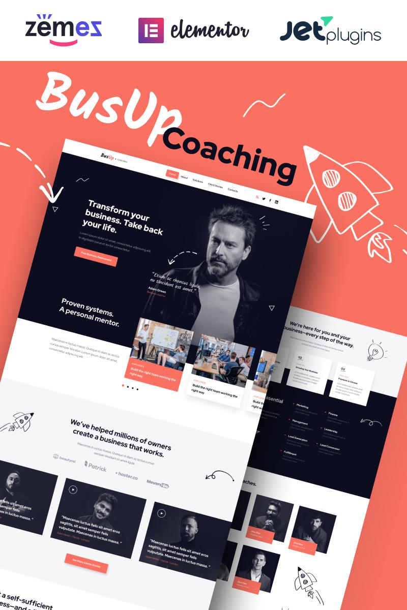 "Template WordPress Responsive #90400 ""BusUp - Engaging And Inspiring Public Speaker Website"" - screenshot"