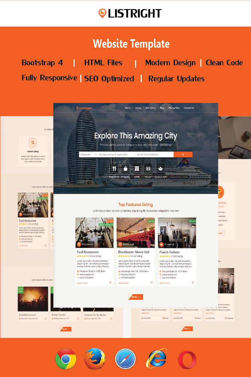 "Website Vorlage namens ""Listright- Directory Listing HTML5"" #90415"