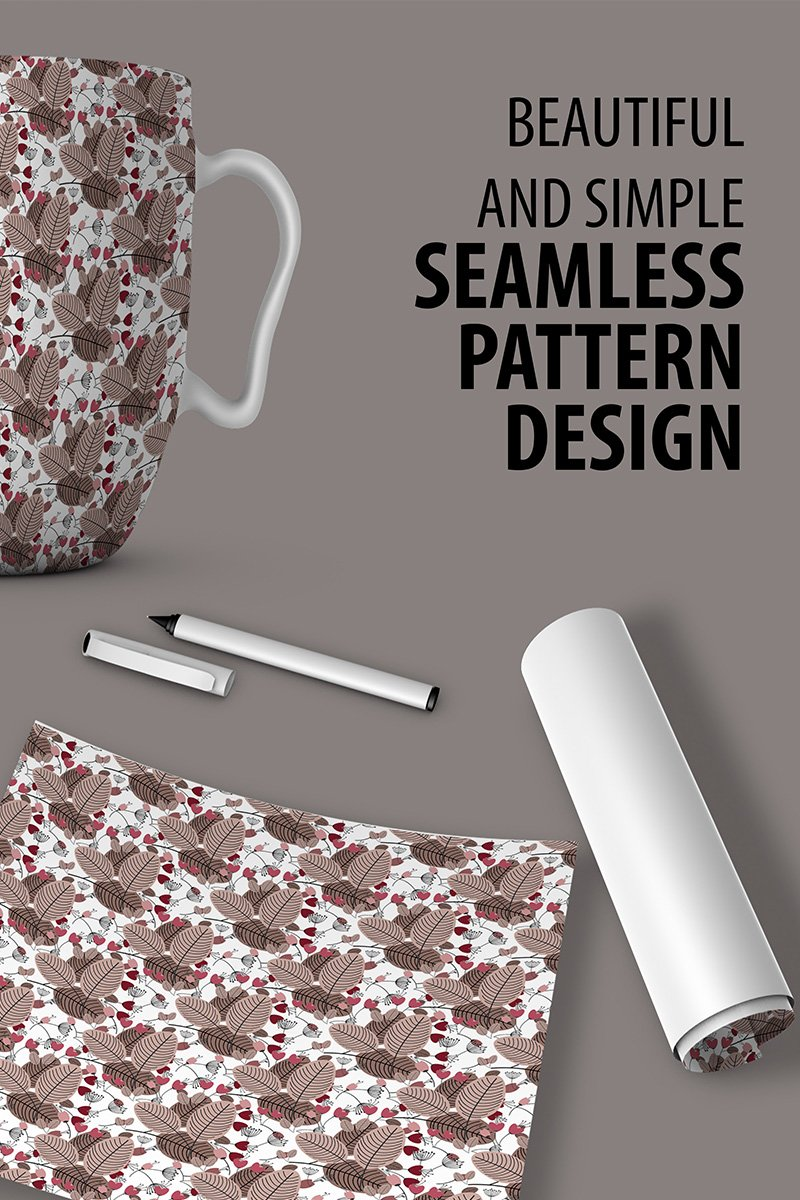 """Abstract Floral Repeat Design"" pattern  #90522"