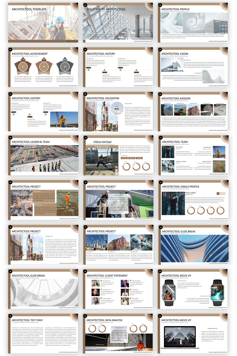 Architectool - Architecture PowerPoint Template - screenshot