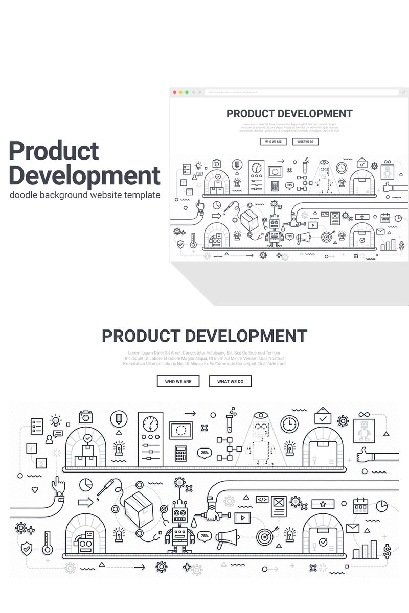 "Background namens ""Doodle - Product Development"" #90577"