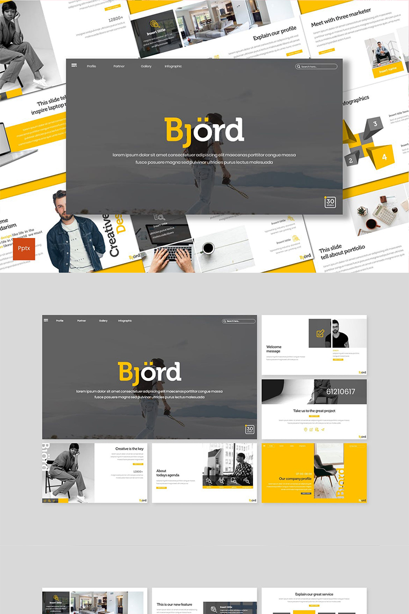 Bjord PowerPoint Template - screenshot