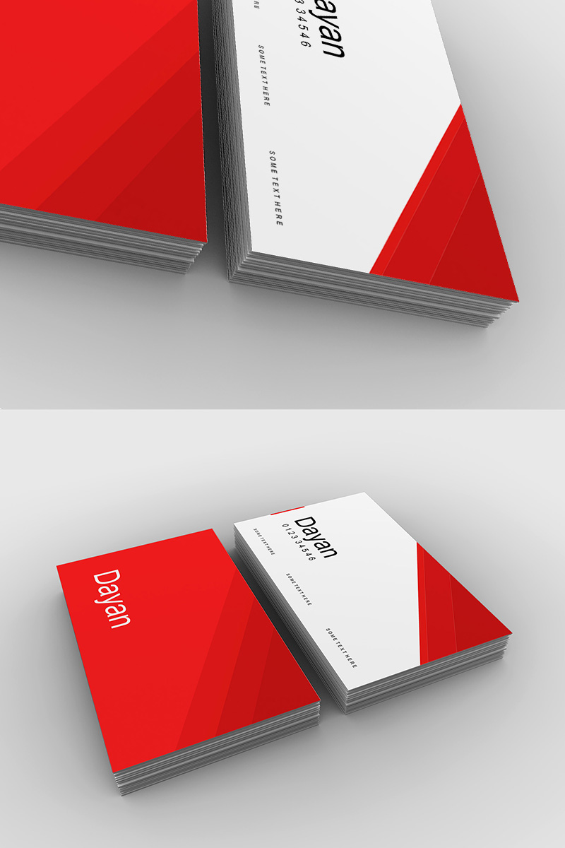 Business Card Mockup Corporate Identity Template - screenshot