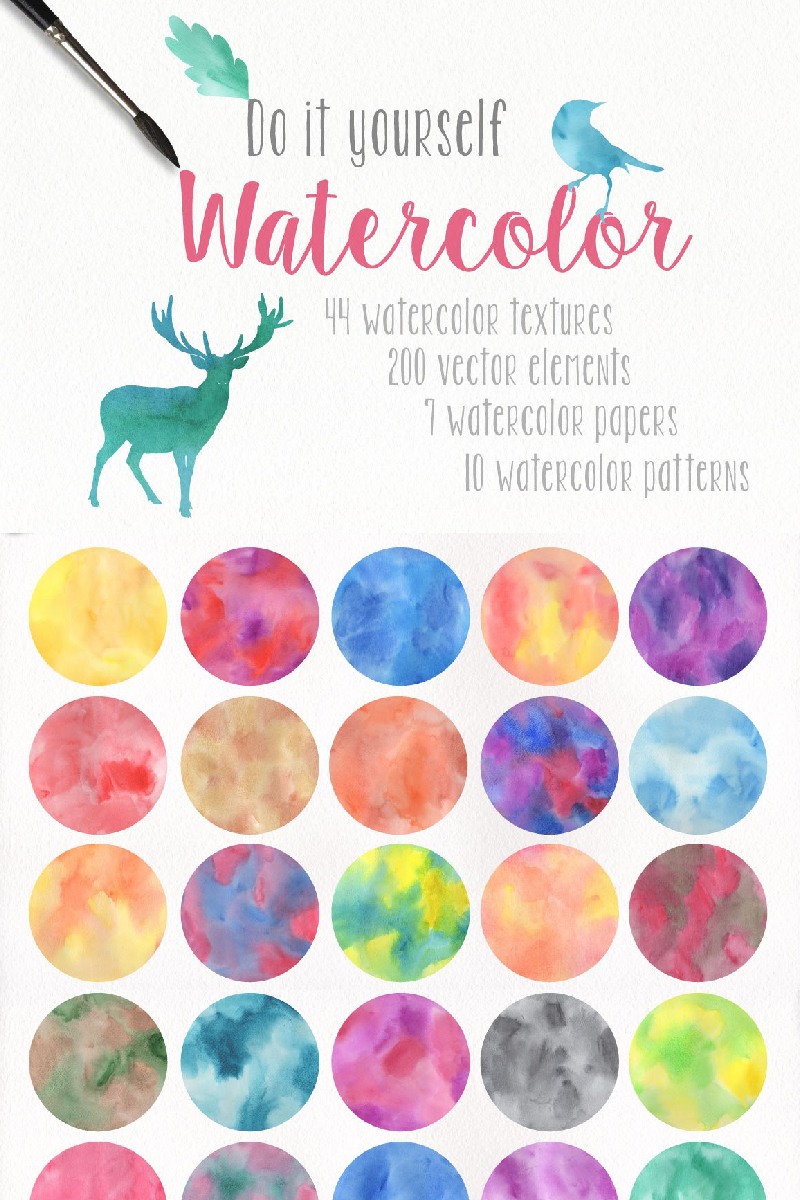 DIY Watercolor Collection Background #90575