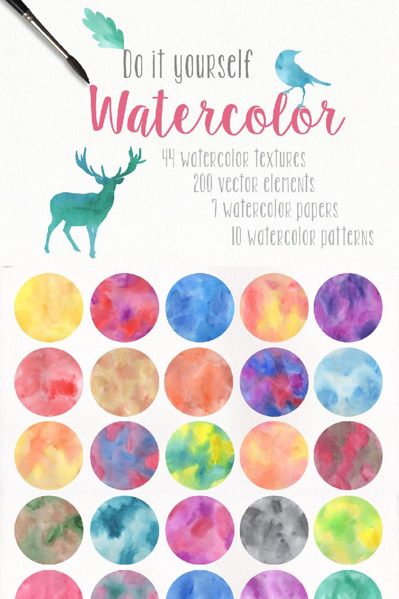 DIY Watercolor Collection Background №90575 - screenshot