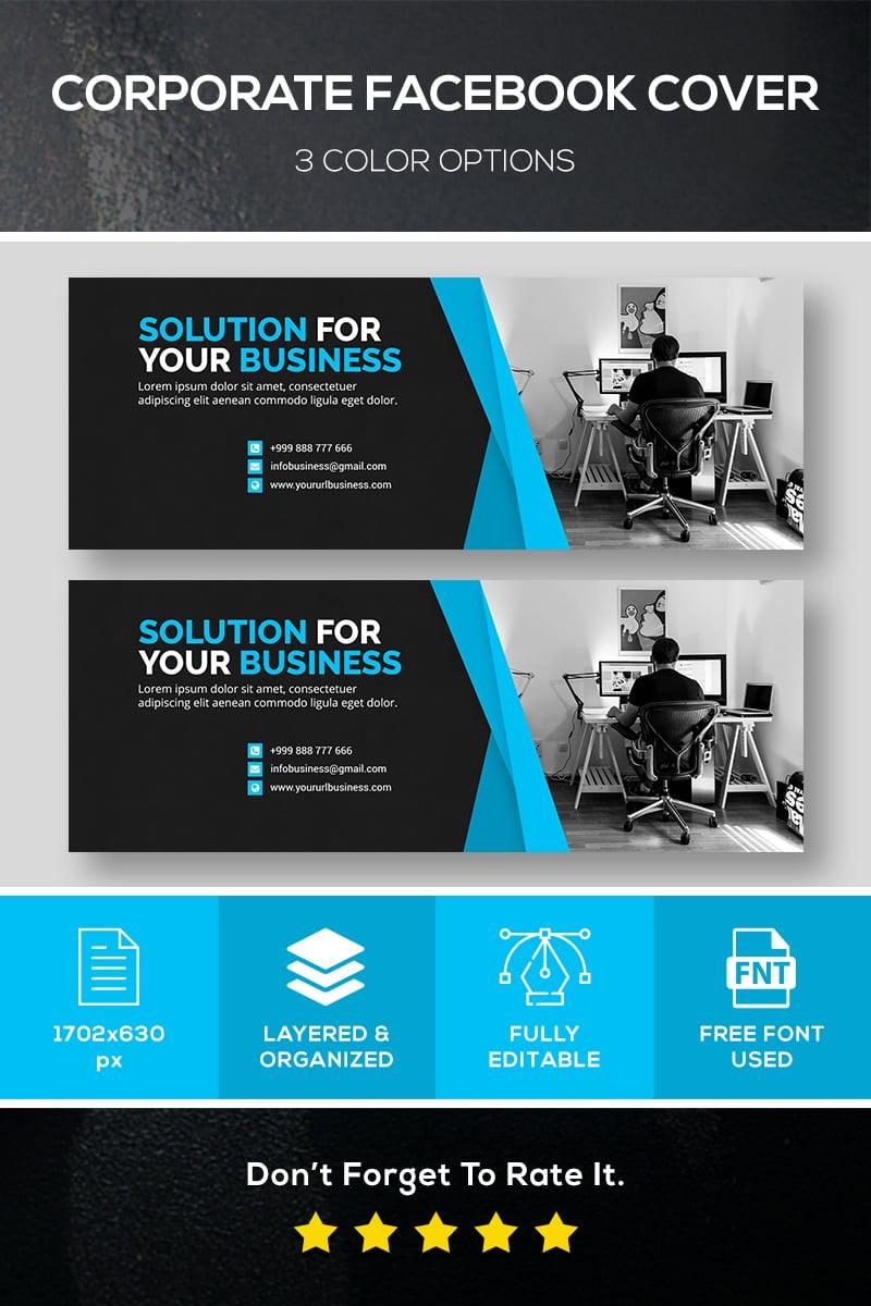 Facebook Cover Corporate Identity Template - screenshot