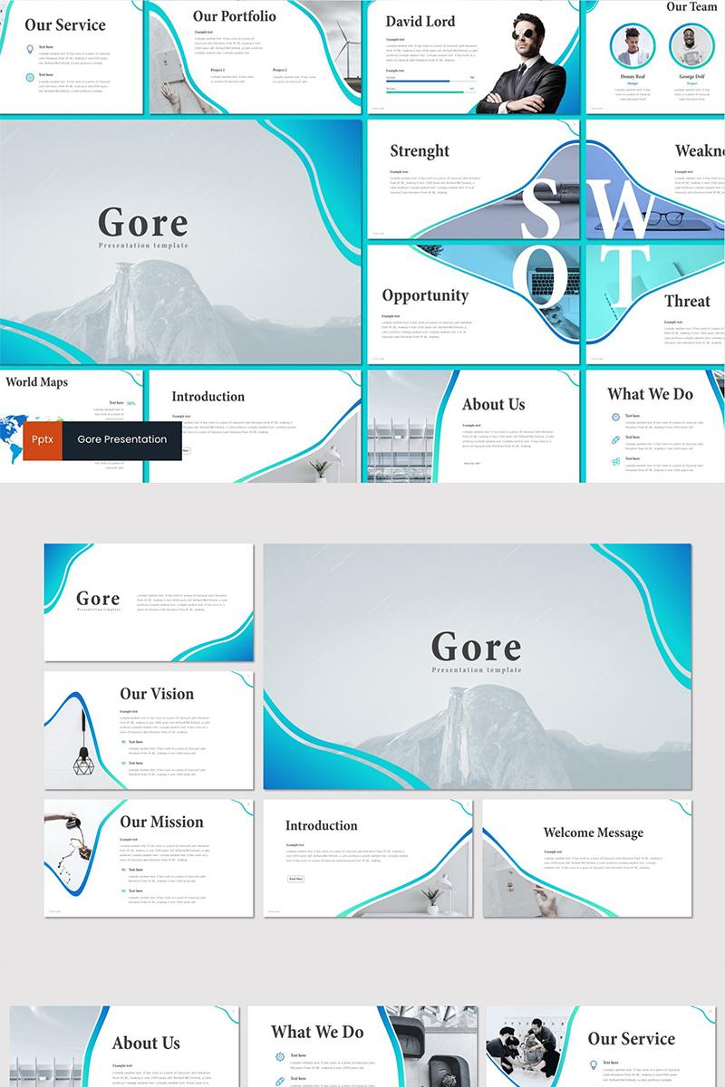 Gore PowerPoint Template - screenshot