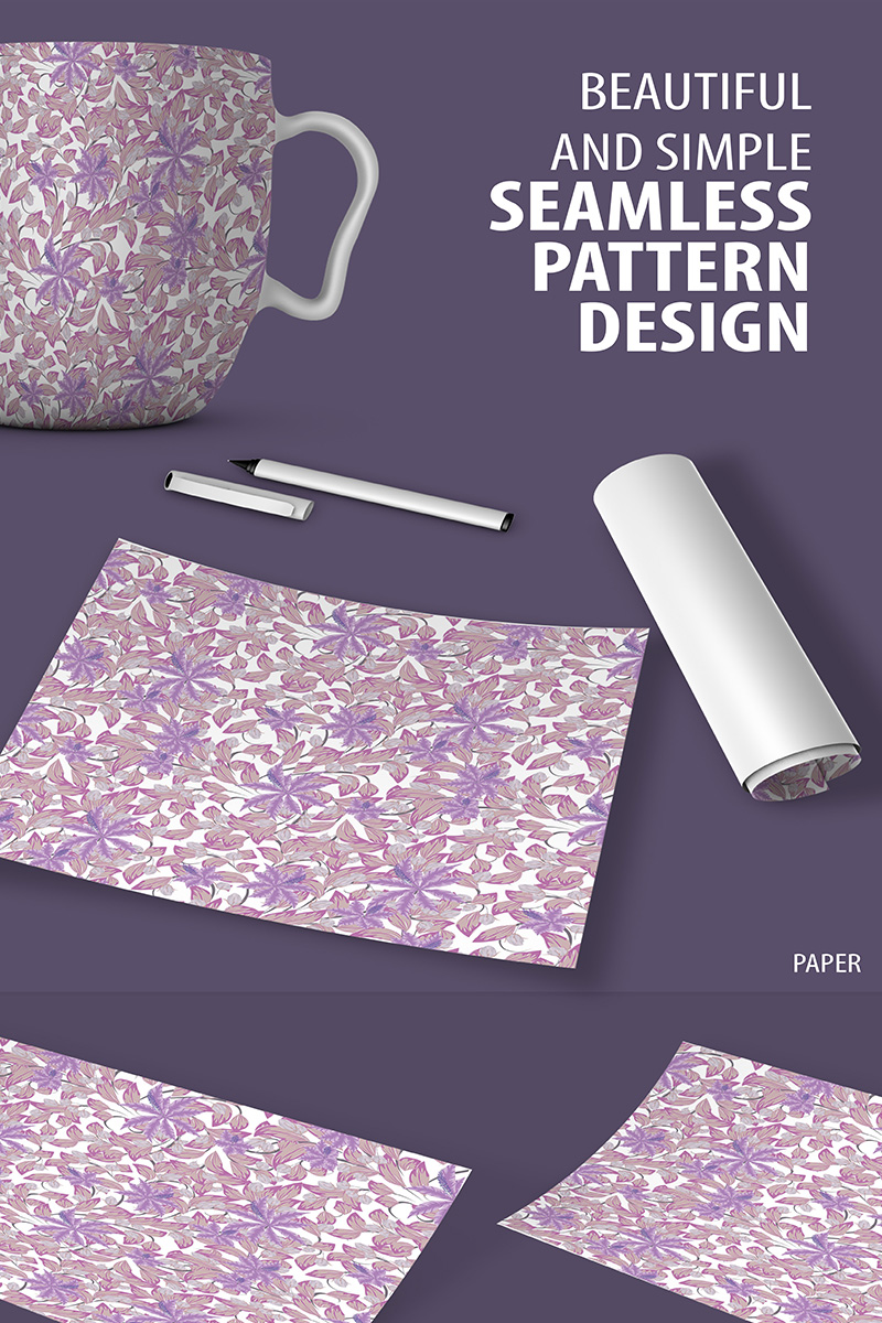 Hand Drawn Floral Seamless Design Pattern - screenshot