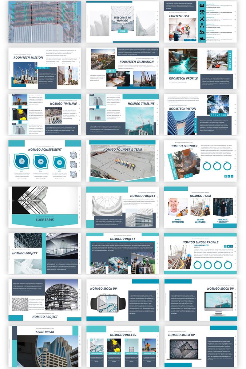 Homigo - Creative Building PowerPoint Template - screenshot
