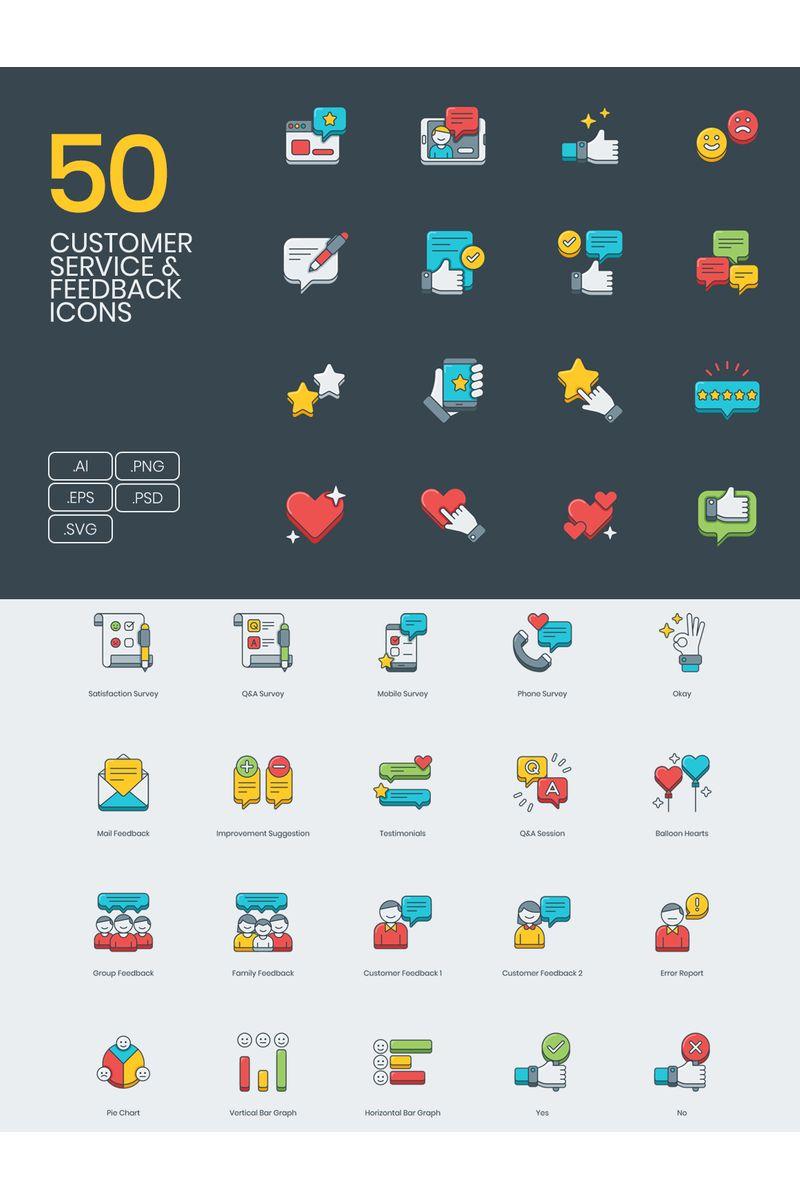 """Icon-Sammlungen Vorlage namens """"50 Customer Survey _ Feedback Icons - 3D Series"""" #90599 - Screenshot"""