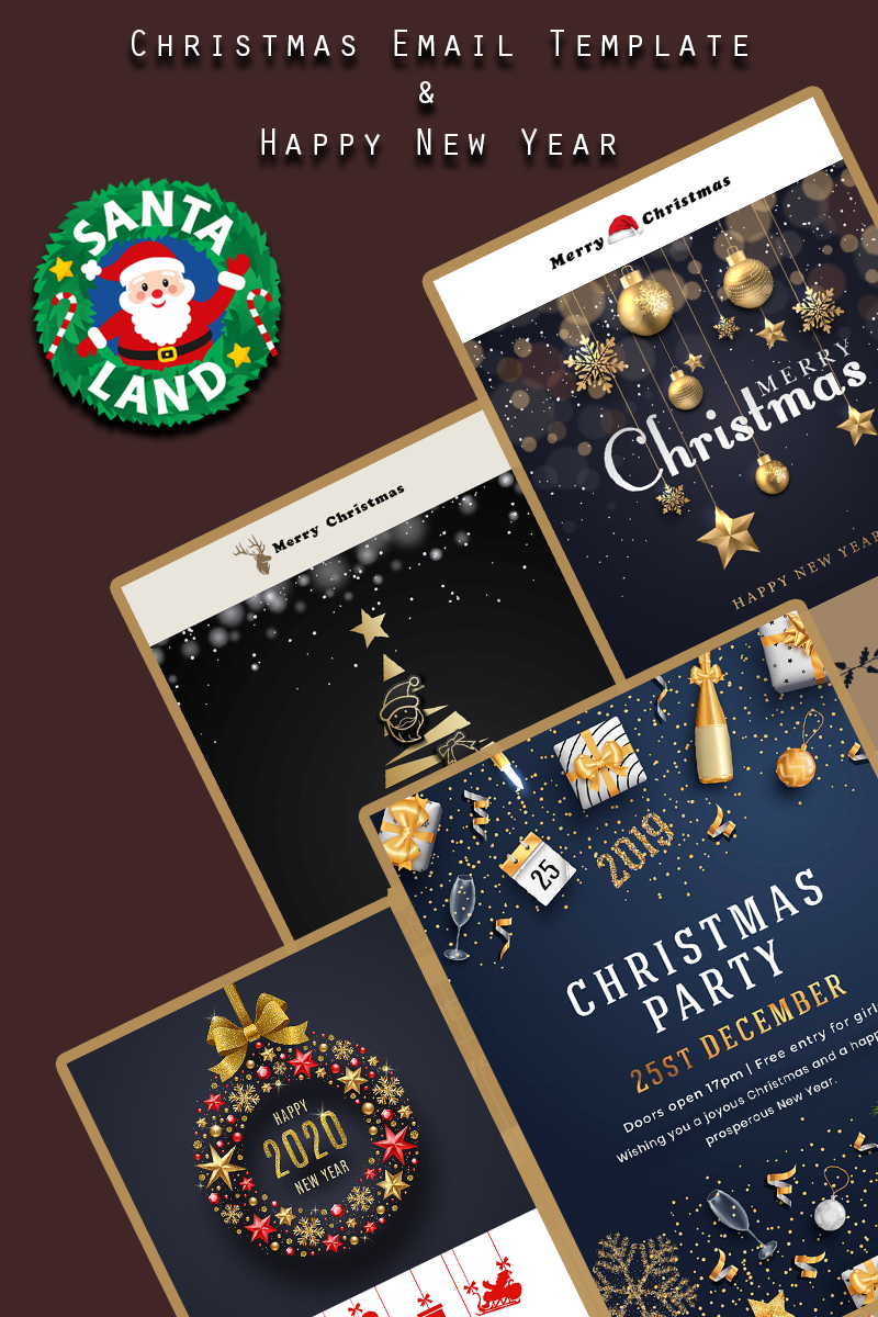 Merry Christmas & Happy New Year Template de Newsletter №90570