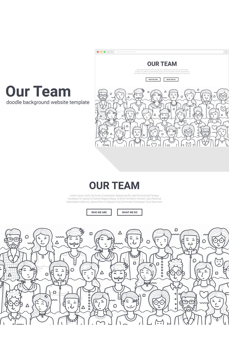 "Modello Background #90578 ""Doodle - Our Team"""