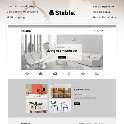 "OpenCart шаблон ""Stable - Modern Furniture Store"" #90517"