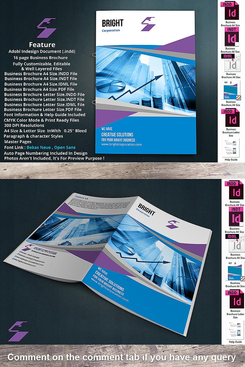 """""""16 Page Unique Business Brochure"""" 企业设计模板 #90514"""