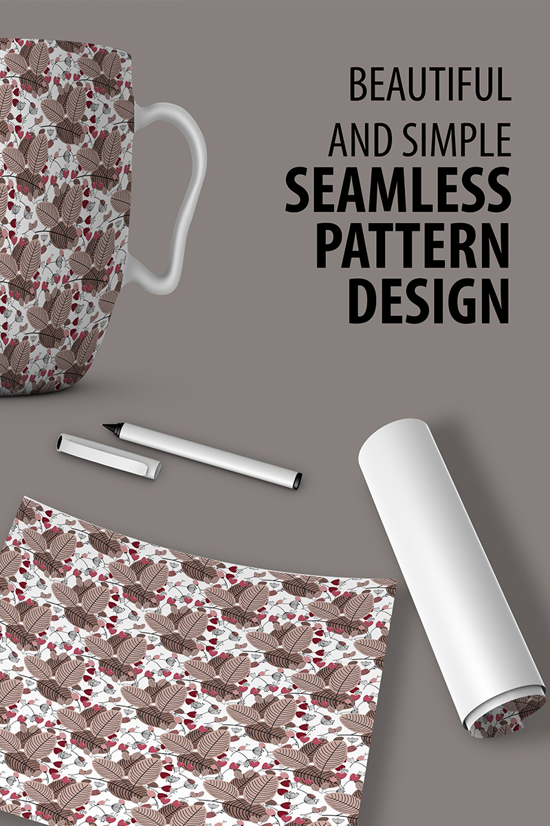 "Pattern ""Abstract Floral Repeat Design"" #90522"