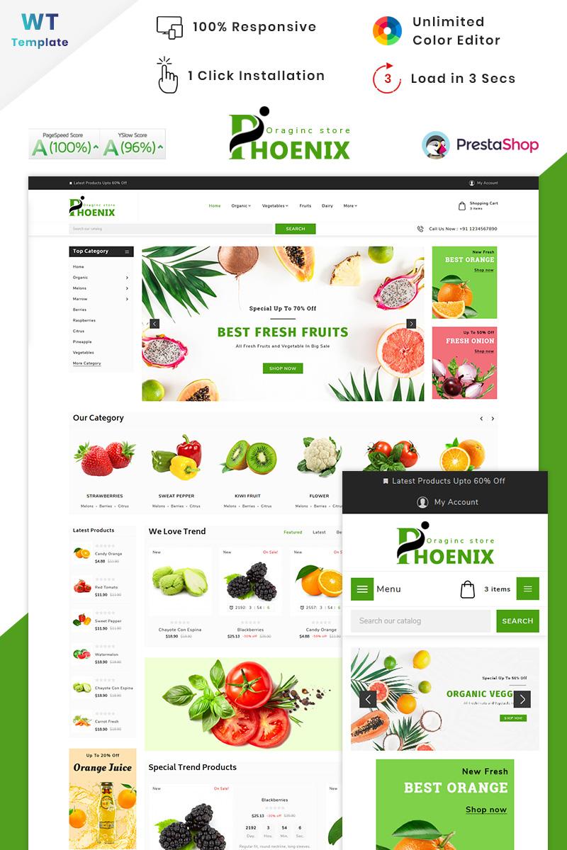 """Phoenix Organic Big Mall"" thème PrestaShop adaptatif #90516 - screenshot"