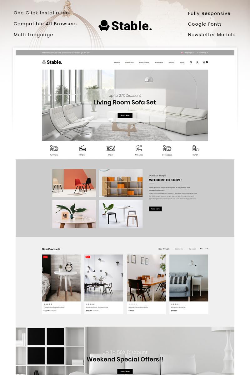 "Plantilla OpenCart ""Stable - Modern Furniture Store"" #90517"