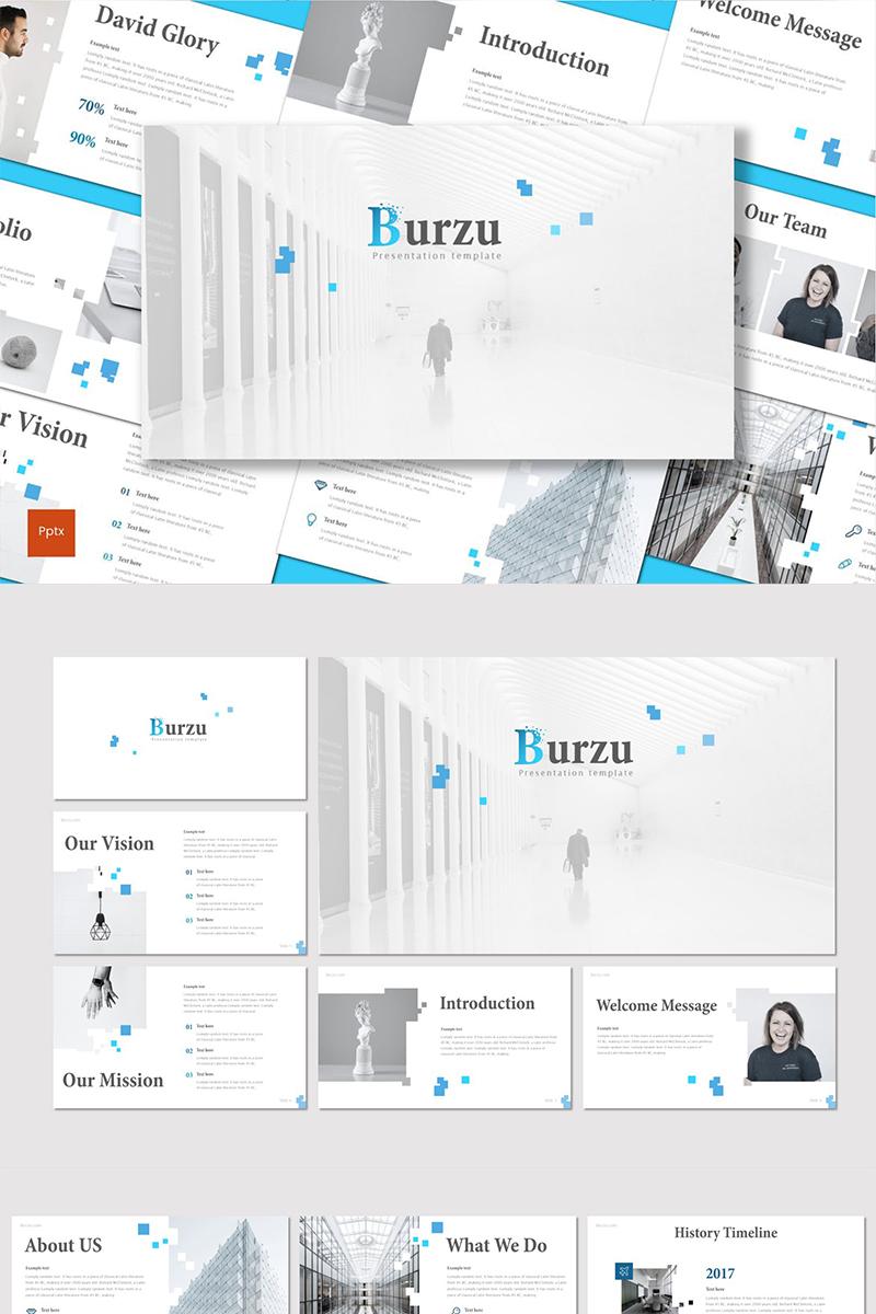 """PowerPoint Vorlage namens """"Burzu"""" #90532"""