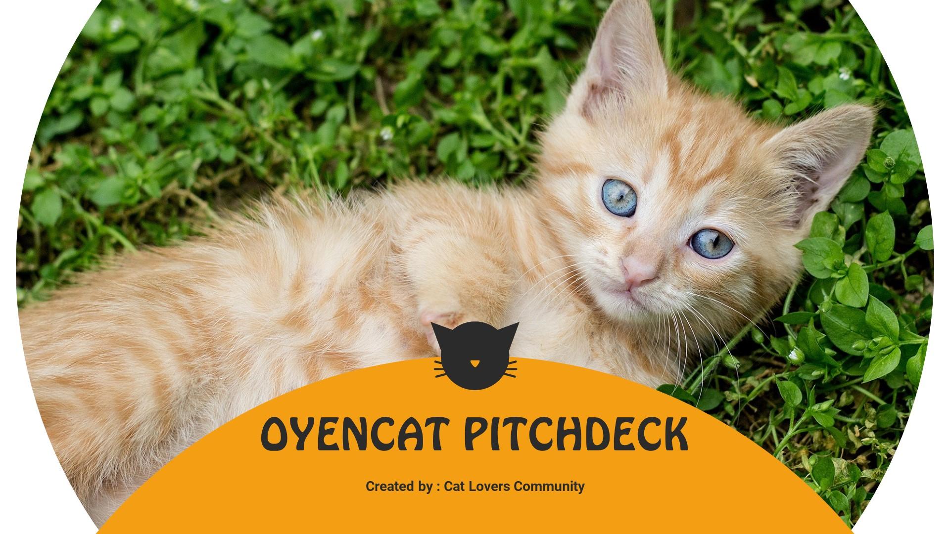 "PowerPoint Vorlage namens ""Oyencat - Creative Cat"" #90542"