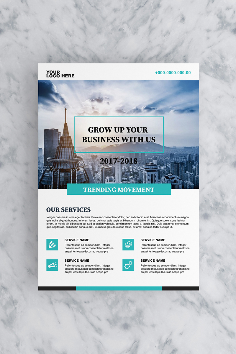 Teal Ascend Business Flyer Corporate Identity Template - screenshot