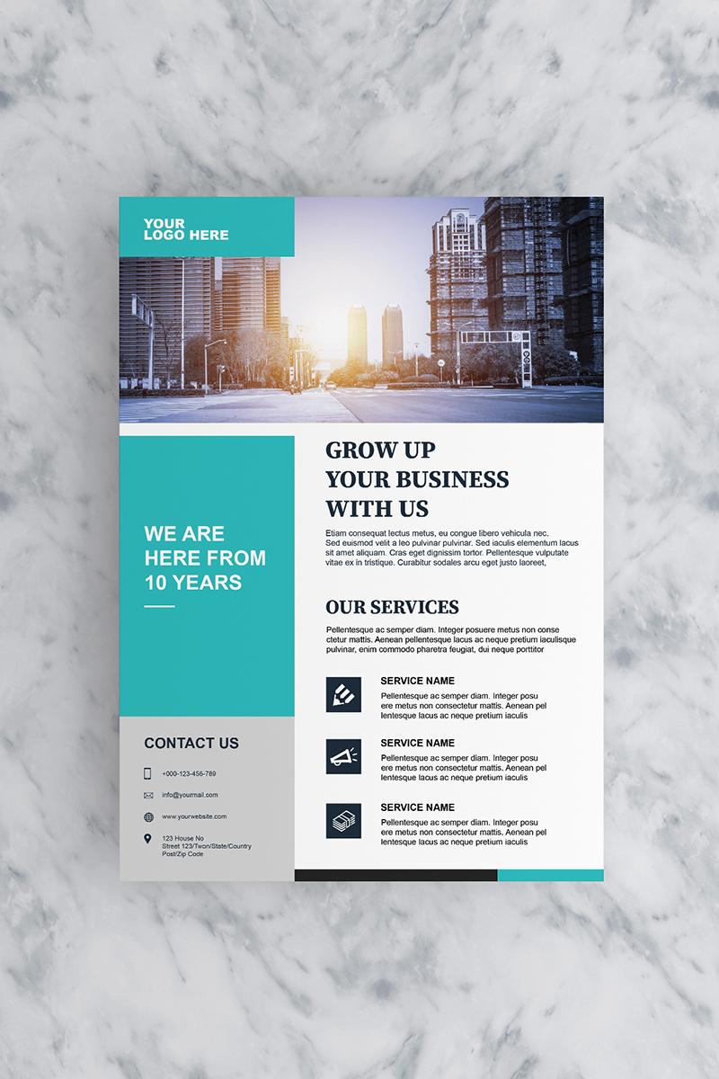 Teal Flyer Corporate Identity Template - screenshot
