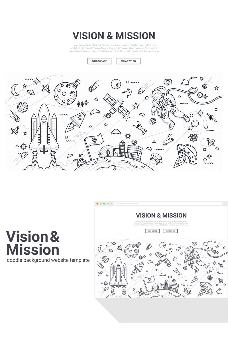 "Tema Background #90576 ""Doodle - Vision Mission"""