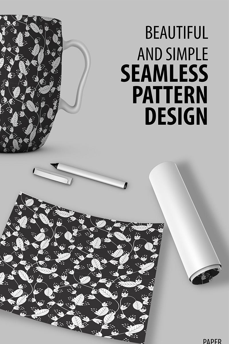 "Tema Pattern #90525 ""Abstract Floral Handdrawn Seamless Design"""