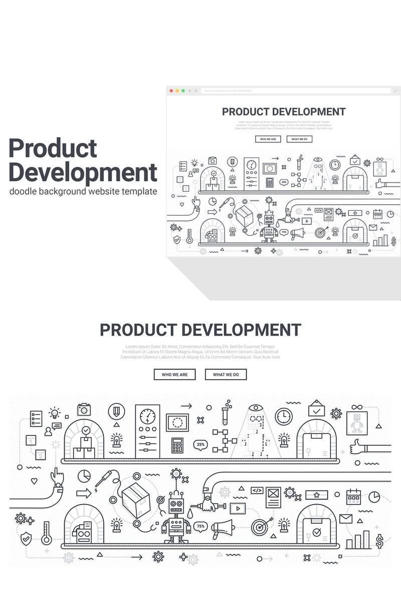 "Template Background #90577 ""Doodle - Product Development"""