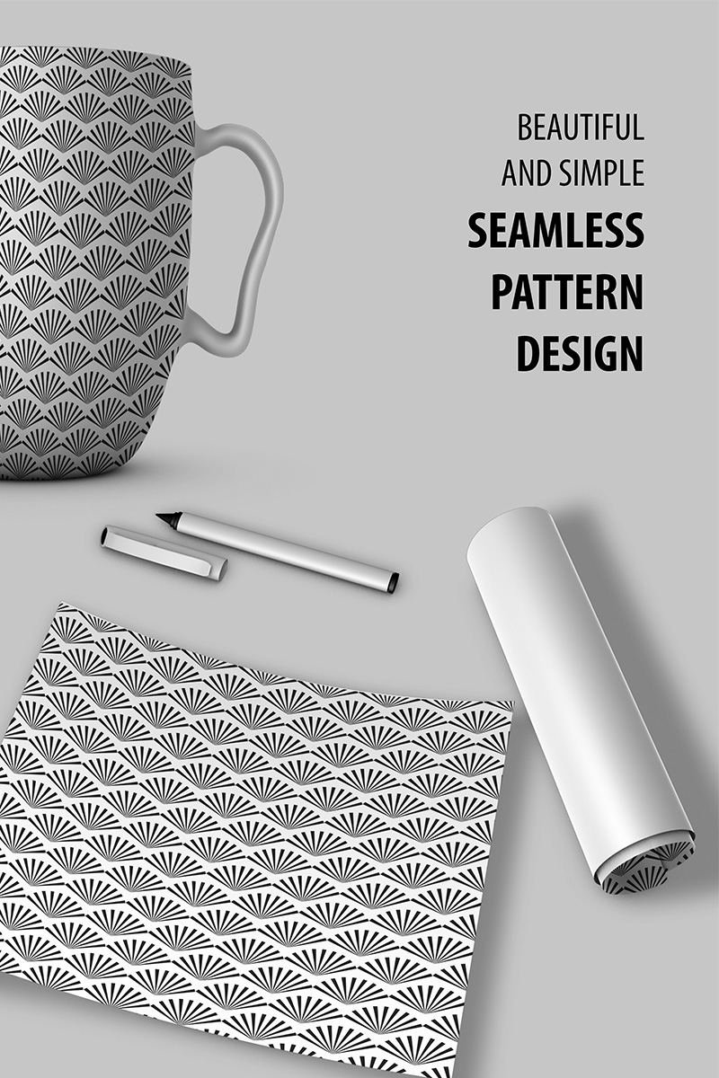 "Template Pattern #90526 ""Abstract Shape Seamless Design"""