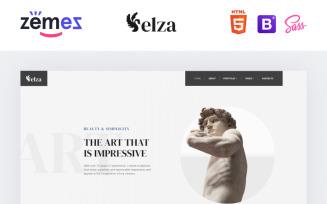 Elza - Sculptor Multipage Website Template
