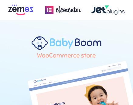 BabyBoom - Cute And Modern Baby WooCommerce Theme