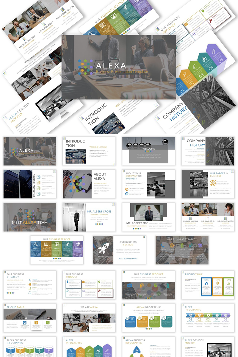 """Alexa - Presentation"" - Keynote шаблон №90622"