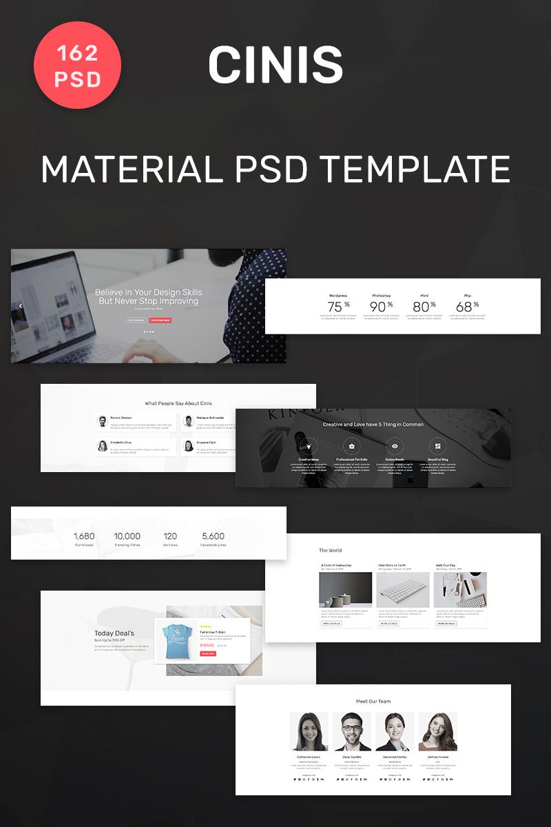 """""""Cinis - Multipurpose Material 162"""" Responsive PSD Template №90639 - screenshot"""