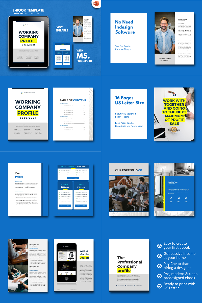 """""""Company Profile 2020 -"""" PowerPoint Template №90680"""