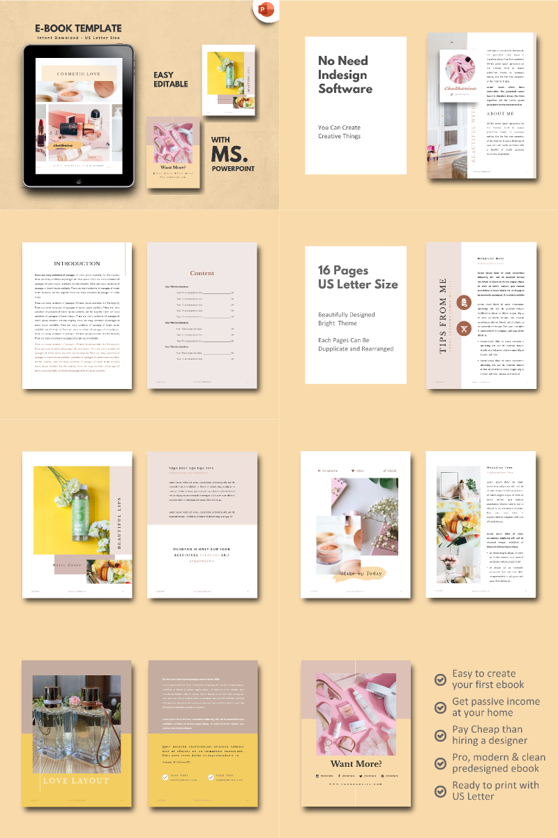 Cosmetic Makeup Tips - PowerPoint Template