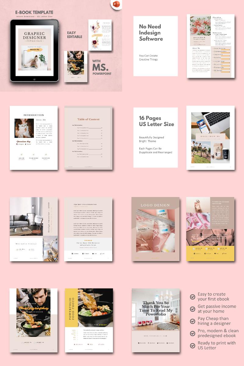 """Graphic Designer - Portfolio"" modèle PowerPoint  #90679"