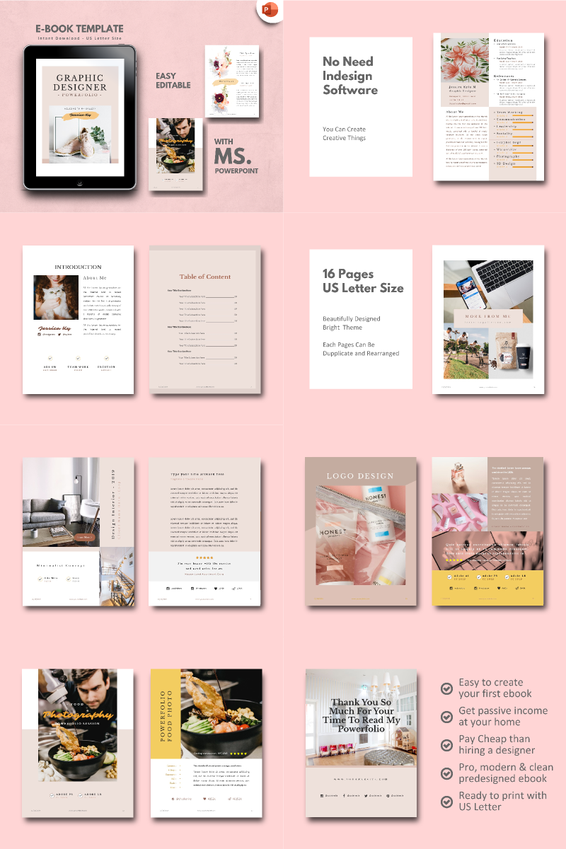 Graphic Designer - Portfolio PowerPoint Template