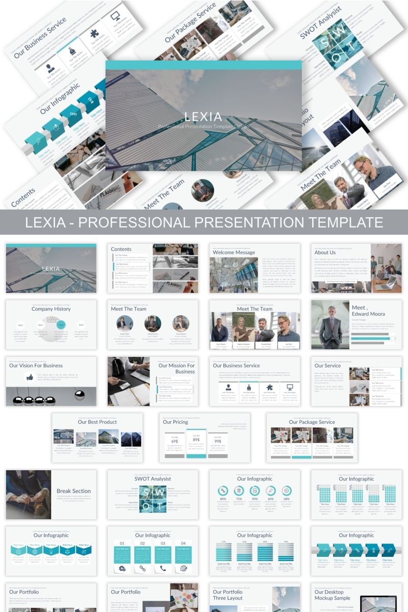 Lexia - Professional Keynote Template #90621